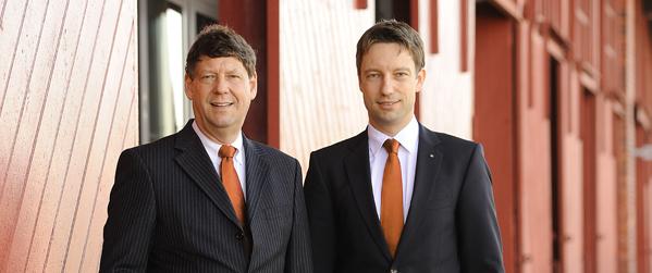 Vorstandsmitglieder Volksbank Lübeck - Dr. Michael Brandt und Roger Pawellek